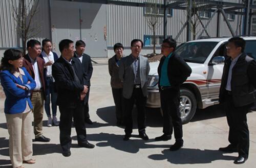 省科技厅、人社厅领导调研我集团水性科技产业园